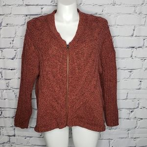 Woolrich Old Red Marl Zip Sweater